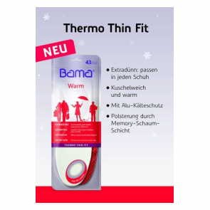 Einlegesohle Warm Thermo Thin Fit