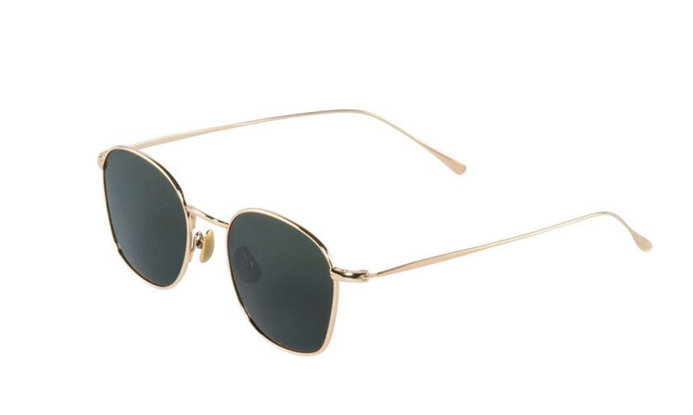 Vegane Sonnenbrille | WAITING FOR THE SUN Simon Gold Green