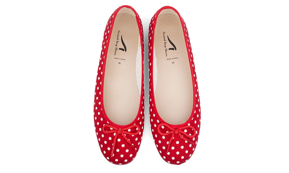 Vegan Ballerinas | GRAND STEP SHOES Pina Red Dots | avesu
