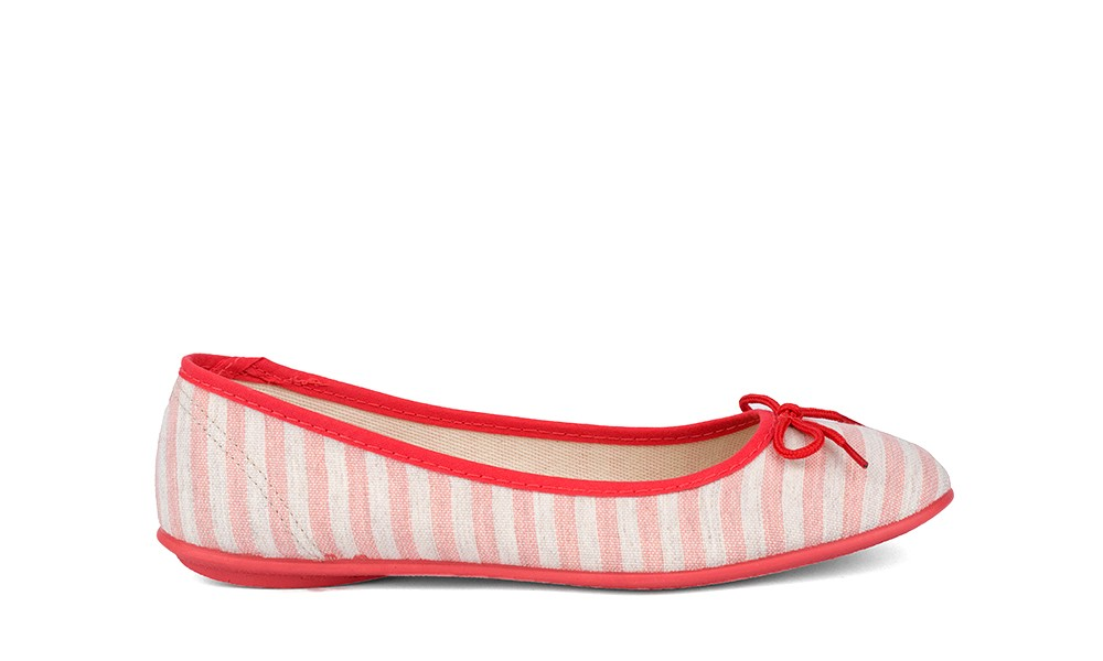 Vegan Ballerinas | GRAND STEP SHOES Pina Strawberry Stripes