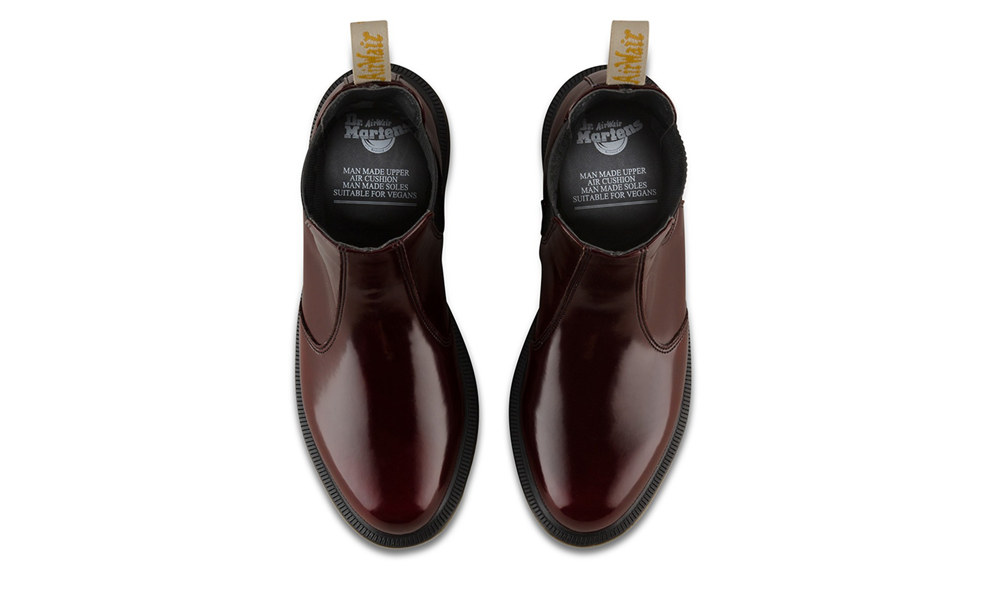 f195c179c40 Vegan Chelsea Boot | DR. MARTENS Flora Chelsea Boot Cherry Red ...