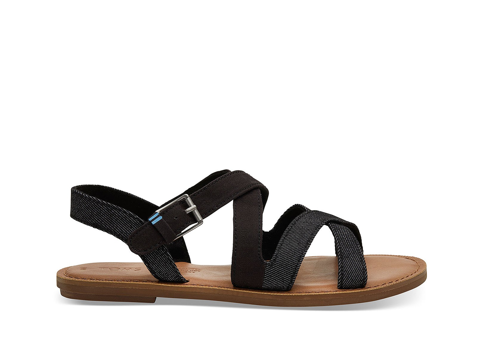 5c8f3720d05 Vegan Sandal | TOMS Sicily Black | avesu VEGAN SHOES