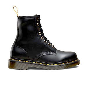 Veganer Stiefel | DR. MARTENS 1460 8-Eye Boot Black Felix Rub Off