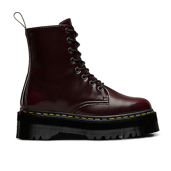 Veganer Stiefel | DR. MARTENS Jadon II Cherry Red Oxford Rub Off