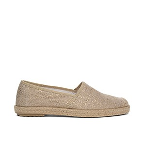 Veganer Slipper | GRAND STEP SHOES Evita Metallic Plain Taupe