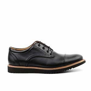 Veganer Derby | AHIMSA Victor Vegan Leather Black