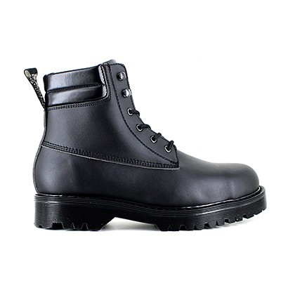Veganer Arbeitsstiefel | VEGETARIAN SHOES Euro Safety Boot Black