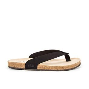 Vegane Sandale   EKN Footwear Sandal Cork Black