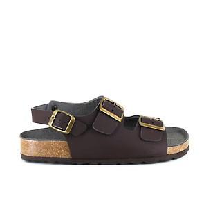 Three Strap Sandal Brown