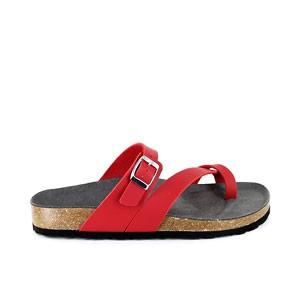Toe Strap Sandal Red