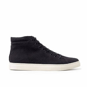 Veganer Sneaker | AHIMSA High Top Sneaker Black