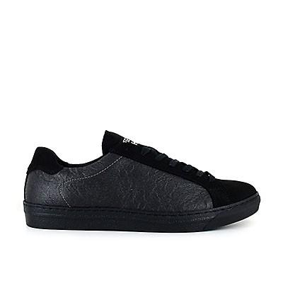 Veganer Sneaker | VEGETARIAN SHOES Chevron Sneaker Pineapple Black