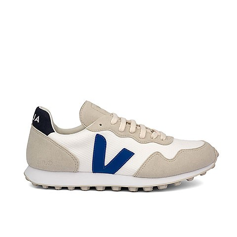 Veganer Sneaker | VEJA SDU HEXA B-Mesh White Indigo Nautico