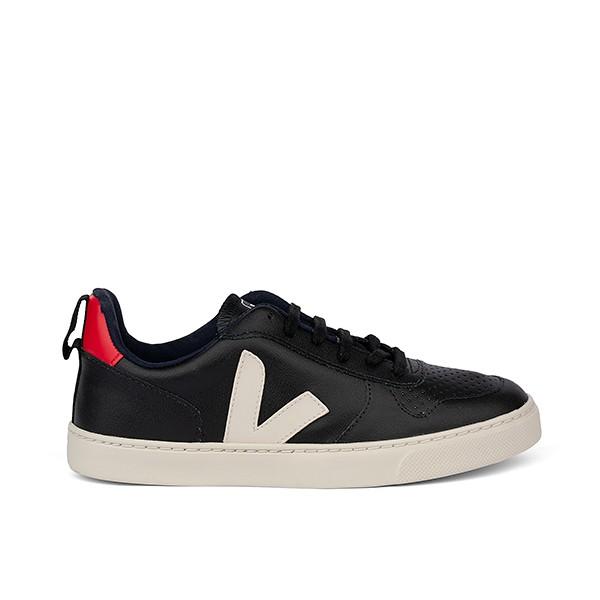 Veganer Sneaker | VEJA Small V-10 Lace CWL Black Pierre Pekin