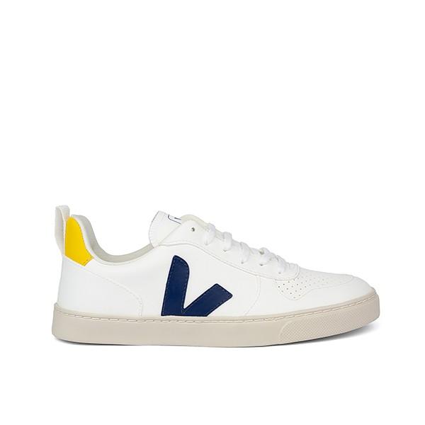 Veganer Sneaker | VEJA Small V-10 Lace CWL White Cobalt Tonic