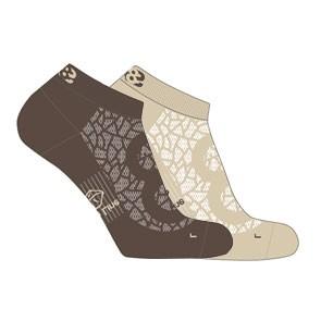Vegane Socken | LOWA Eightsox Lo Nature Beige/Dark Brown
