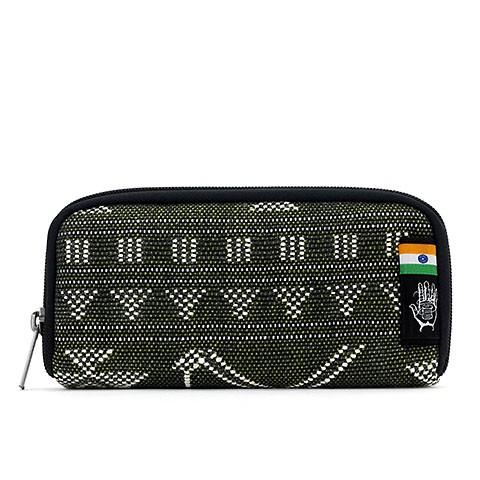 Vegane Brieftasche   ETHNOTEK Chiburi Accordion Wallet India 19