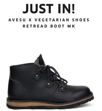 avesu x Vegetarian Shoes   Retread Boot MK2   JUST IN!