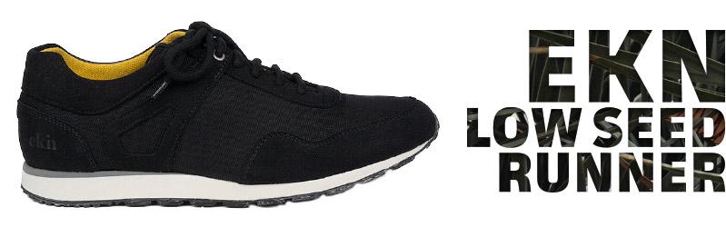 Vegan Sneaker | EKN Low Seed Runner Black